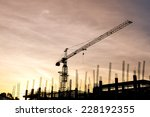 silhouettes of construction...   Shutterstock . vector #228192355
