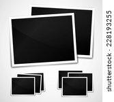 photo frame on white background ... | Shutterstock . vector #228193255
