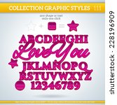 love you graphic styles for... | Shutterstock .eps vector #228196909