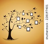 memories tree with photo frames.... | Shutterstock . vector #228197401
