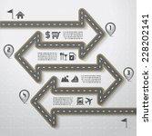 road   street infographic... | Shutterstock .eps vector #228202141