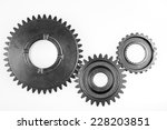 metal gears on plain background   Shutterstock . vector #228203851