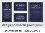 great style invitation in art... | Shutterstock .eps vector #228203911