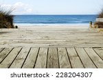 Boardwalk Leading To Beach...
