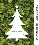 vector evergreen christmas tree ... | Shutterstock .eps vector #228205459
