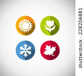 four seasons icon symbol ... | Shutterstock . vector #228206881