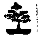 black bonsai tree vector | Shutterstock .eps vector #228207175