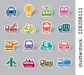 transportation color icon label | Shutterstock .eps vector #228208111