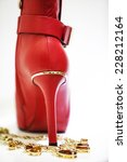 high heel shoes  | Shutterstock . vector #228212164