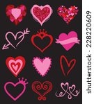 vector illustration of heart... | Shutterstock .eps vector #228220609