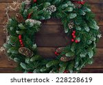 Christmas Conifer Wreath With...