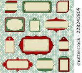 retro holiday labels and tags   ... | Shutterstock .eps vector #228242809
