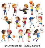 Kids Playing Various Sports On...