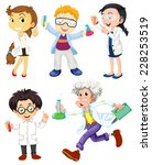 scientists and doctors on white | Shutterstock .eps vector #228253519