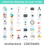 abstract vector set of colorful ... | Shutterstock .eps vector #228256681