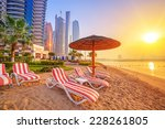 sunrise on the beach at perian... | Shutterstock . vector #228261805