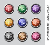 exclusive offer colorful vector ...   Shutterstock .eps vector #228269164