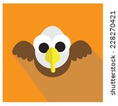 eagle icon cartoon style vector | Shutterstock .eps vector #228270421
