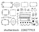 vector floral decor set of hand ...