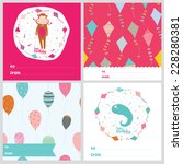 set of square greeting cards... | Shutterstock .eps vector #228280381