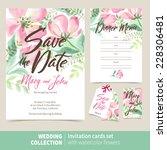 vector set of invitation cards... | Shutterstock .eps vector #228306481