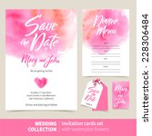 vector set of invitation cards... | Shutterstock .eps vector #228306484