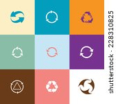 recycle symbols set. flat color ... | Shutterstock .eps vector #228310825