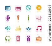music icons | Shutterstock .eps vector #228310939