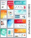 set of flyer  brochure design... | Shutterstock .eps vector #228313801
