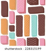 different flavored wafers... | Shutterstock .eps vector #228315199