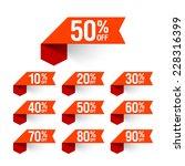 sale  discount labels. vector. | Shutterstock .eps vector #228316399