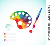 paint brush with palette icon... | Shutterstock .eps vector #228318757