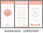 dessert menu card design... | Shutterstock .eps vector #228324304