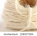 close up of a roll of beige... | Shutterstock . vector #228327304