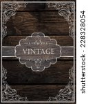 vintage card design. vector | Shutterstock .eps vector #228328054