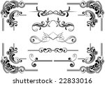 scroll design | Shutterstock .eps vector #22833016