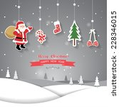 greeting card  christmas and... | Shutterstock .eps vector #228346015