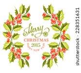christmas mistletoe branch... | Shutterstock .eps vector #228351631