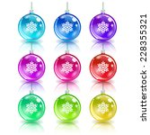 colorful christmas balls. set... | Shutterstock .eps vector #228355321