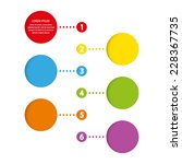 template infographic chart... | Shutterstock .eps vector #228367735