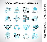 social network icons  network... | Shutterstock .eps vector #228368614