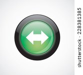 arrow glass sign icon green...