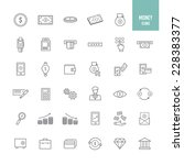 money and banking icons. vector ... | Shutterstock .eps vector #228383377