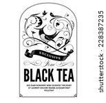 vintage tea label | Shutterstock .eps vector #228387235