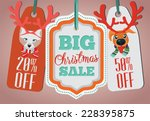 christmas sale tags | Shutterstock .eps vector #228395875