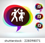 people dancing on multi color... | Shutterstock .eps vector #228398071