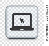 laptop computer on transparent... | Shutterstock .eps vector #228401155