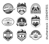 set of retro badges and label... | Shutterstock . vector #228409501