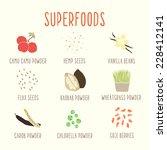 vector hand drawn superfoods... | Shutterstock .eps vector #228412141