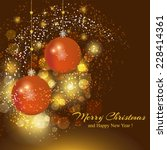 merry christmas and happy new... | Shutterstock .eps vector #228414361
